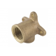 Spartan Brazing Bracket Elbow 15mm Brass DR - EBB15