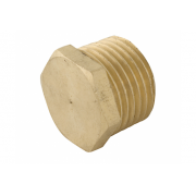 Spartan Flat Head Plug 6mm Brass DR - P6