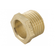 Spartan Hexagon Reducing Bush 15mm x 10mm Brass DR