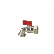 Aqualine Dishwasher Tap Female Red 20mm x 15mm - DWFR