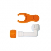 "Buteline Male & Female White Finishing Extension Elbow - Male 1/2"" BSP x Female 1/2"" BSP"