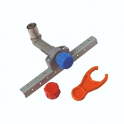 """Buteline BUTE-1EX Adjustable 1/2"""" BSP x 15mm x 100mm Male Wall Elbows"""