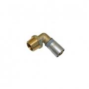 """Buteline Brass Male Elbow - 1/2"""" BSP x 15mm"""