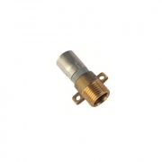 "Buteline Brass Lugged Male Adaptor - ML15B - 1/2"" BSP x 15mm"