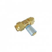 """Buteline Brass In Line Copper to PB Pipe Tee - 1/2""""BSP x 1/2""""BSP x 15mm to fit 15m copper"""