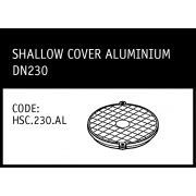Marley Hunter Shallow Cover Aluminium DN230 -  HSC.230.AL