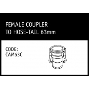 Marley Camlock Female Coupler to Hose -Tail 63mm - CAM63C
