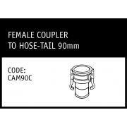 Marley Camlock Female Coupler to Hose -Tail 90mm - CAM90C
