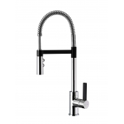 Gaston Spring Pull Down Twin Function Sink Mixer (Black & Chrome) ON PROMOTION