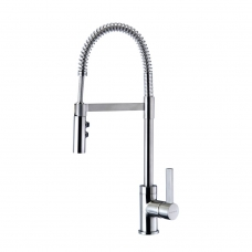 Gaston Spring Pull Down Twin Function Sink Mixer (Brushed Finish)