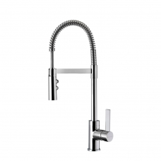 Gaston Spring Pull Down Twin Function Sink Mixer (Chrome)