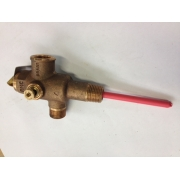 "Reliance High Pressure and Temperature Relief Valve with 1/2"" Extension 15mm 700kPa with Integrated Oulet - HTT515"